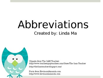 Abbreviations {FREEBIE}