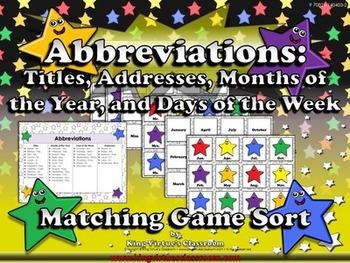 Abbreviations: Titles, Addresses, and Calendar Matching Ga