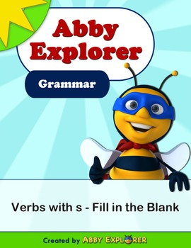 Abby Explorer Grammar - First Level: Verbs with S - Fill i