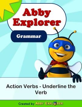 Abby Explorer Grammar - Second Level: Action Verbs - Under