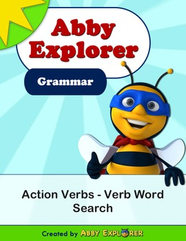 Abby Explorer Grammar - Second Level: Action Verbs - Word Search