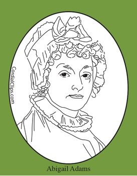 Abigail Adams Clip Art, Coloring Page, or Mini-Poster