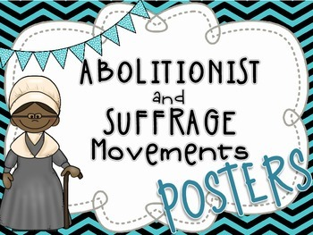 Abolitionist & Suffrage Posters - Harriet Tubman, Sojourne