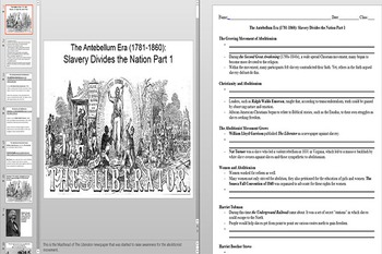 Abolitionists and the Second Great Awakening Powerpoint AN