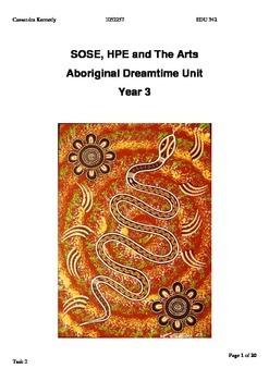 Aboriginal Dreamtime Story unit plan