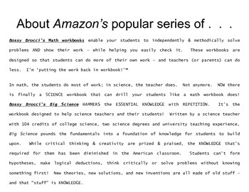 About Amazon's popular Bossy Brocci workbook series & the Author