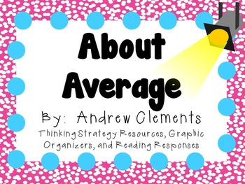 About Average by Andrew Clements: A Complete Novel Study!