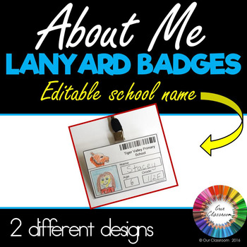 About Me Badges (Insert your own school name!)