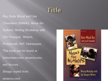 About the Authors book study