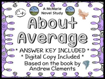 About Average (Andrew Clements) Novel Study / Reading Comp