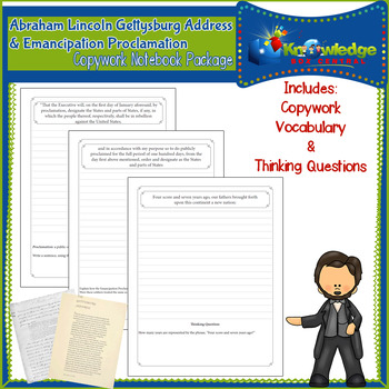 Abraham Lincoln Copywork Package