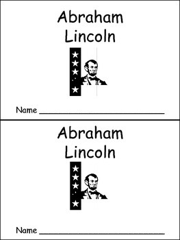 Abraham Lincoln- Early Reader Kindergarten and First Grade
