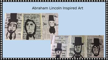 Abraham Lincoln Inspired Art Lesson