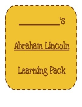 Abraham Lincoln Learning Pack