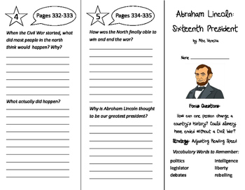 Abraham Lincoln: Sixteenth President Trifold - Imagine It