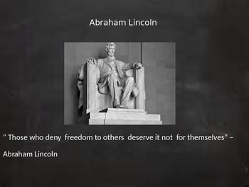 Abraham Lincoln- our 16th president power point/interactive