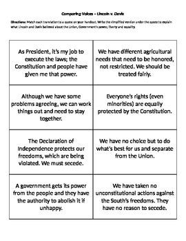 Abraham Lincoln v. Jefferson Davis