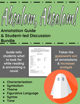 Absalom, Absalom! Annotation Guide and Student-led discuss