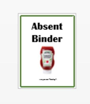 Absent Binder Cover Sheet
