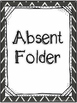 Absent Folder Covers - Chalkboard Chevron