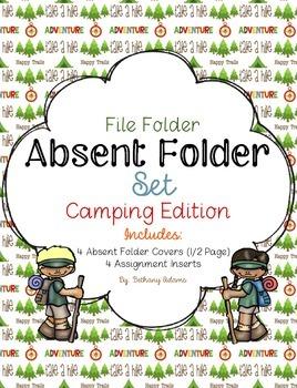 Absent Folder Set ~Camping Edition~ Just Add a File Folder!