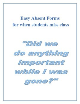 Absent Forms - What did I miss while I was out?