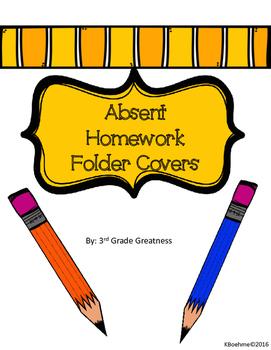 Absent Homework Folder Covers