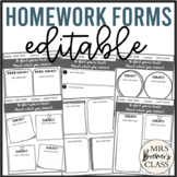 Absent Student Homework Forms