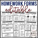 Homework Forms