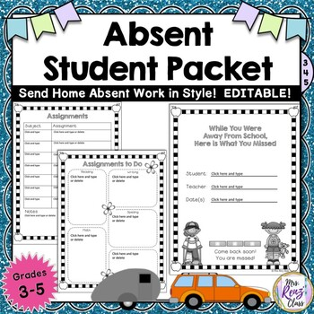 Absent Student Journal Helps You Be Ready for Last Minute