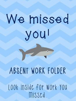 Absent Work Folder Beach & Ocean Theme