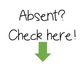 Absent Work Folder Signs