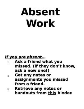 Absent Work Procedure