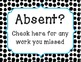 Absent Work Sign