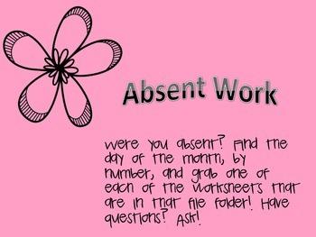 Absent work option 1
