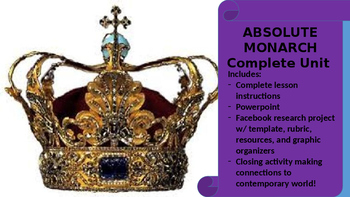 Absolute Monarch Unit--PPT, Group Activities, and Facebook