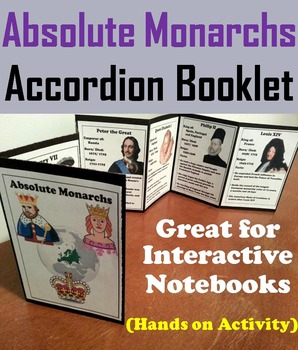 Absolute Monarchs Interactive Notebook Foldable (Fun Hands