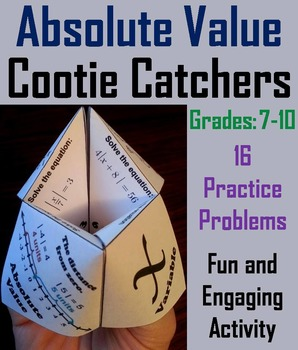 Solving Absolute Value Equations Activity for 7th, 8th, 9t