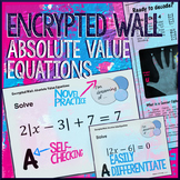 Absolute Value Equations Encrypted Wall Activity