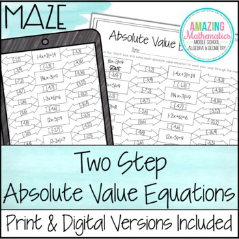 Absolute Value Equations Maze