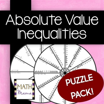 Absolute Value Inequalities Puzzle Pack!