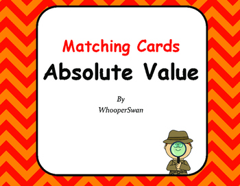 Absolute Value - Matching Cards