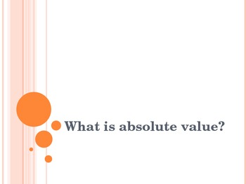 Powerpoint - Absolute Value
