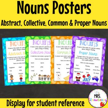 Abstract Nouns, Collective Nouns, Common Nouns, Proper Nou