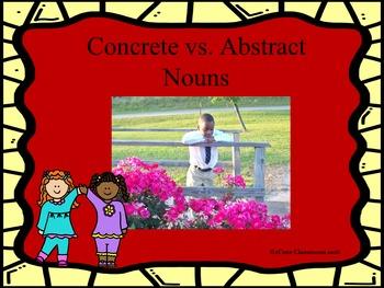 Abstract Nouns vs. Concrete Nouns Game