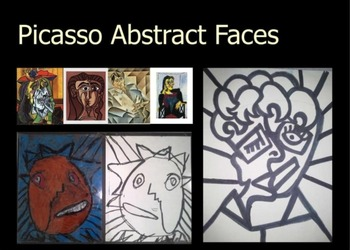 Abstract Picasso Self Portrait (need Smart Notebook software)