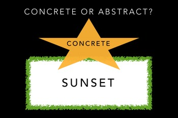 Abstract and Concrete Nouns - A Lesson and Two Practice Sheets
