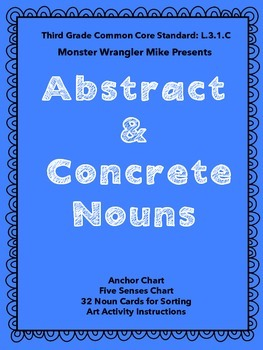 Abstract and Concrete Nouns: Card Sort