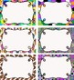 Editable Multipurpose Tags - 12 Colorful Abstract Designs