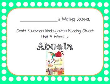 Abuela Writing Journal with Word Dictation (Kindergarten R
